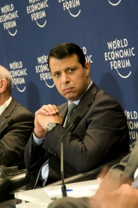 Mohammed Dahlan at the World Economic Forum  on the Middle East and North Africa in 2010