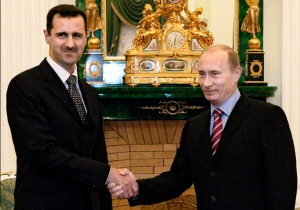 Vladimir Putin and Bashar al-Assad meet in December, 2006.